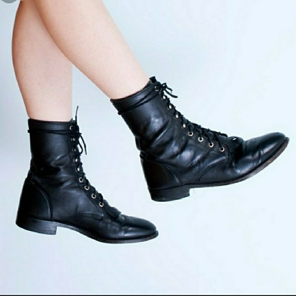 1b681dc355d04 Women Justin Black Motto Combat Boots